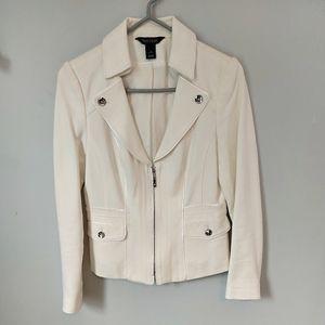 White House Black Market White Blazer Lined Size 2